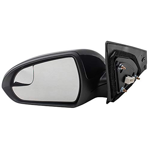 (Drivers Power Side View Mirror w/Spotter Glass Replacement for Hyundai Elantra Sedan USA)