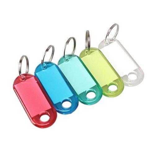 Etichetta portachiavi in plastica trasparente con anello 100 pezzi