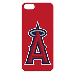 MLB Major League Baseball Los Angeles Angels of Anaheim iPhone 5 TPU Soft Black or White case (White)