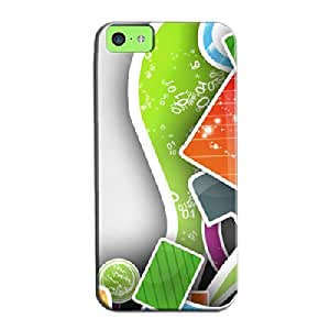 Scratch-free White Abstract 3D Art Protective Hard Case For Iphone 5c