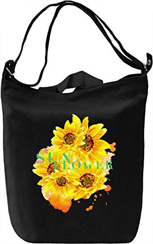 Sunflower Borsa Giornaliera Canvas Canvas Day Bag| 100% Premium Cotton Canvas| DTG Printing|