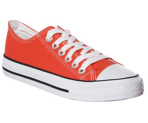 NEW STYLE!! Women's Classic Canvas Skate Sneaker Best Seller Coral
