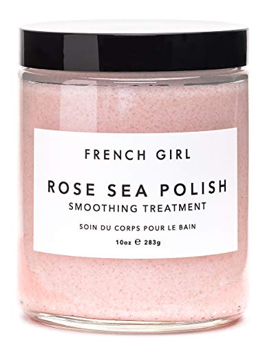 (French Girl Organics - Organic/Vegan Sea Salt Body Polish (Rose/Vervaine))