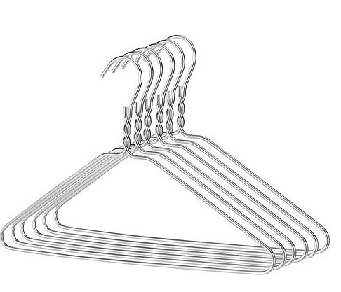 25 Drahtbügel Silber Draht-Kleiderbügel , Draht-Stärke: ca. 2,3 mm -PLAIN