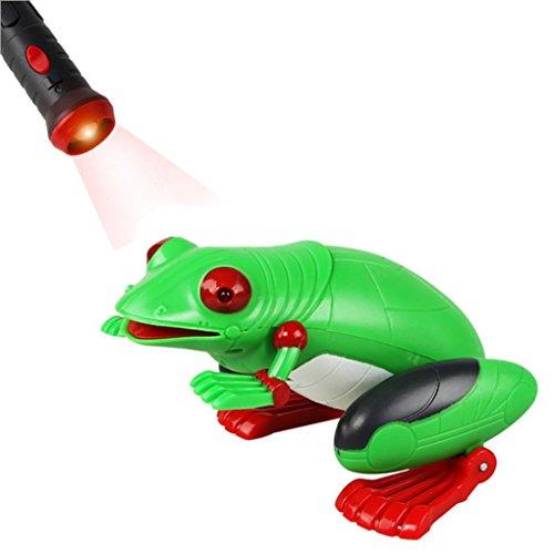 Leegor Kids Easter Sunday Gift Toy Prank Fake Froggy Simulation Light-Sensor Remote Control (Green) ()