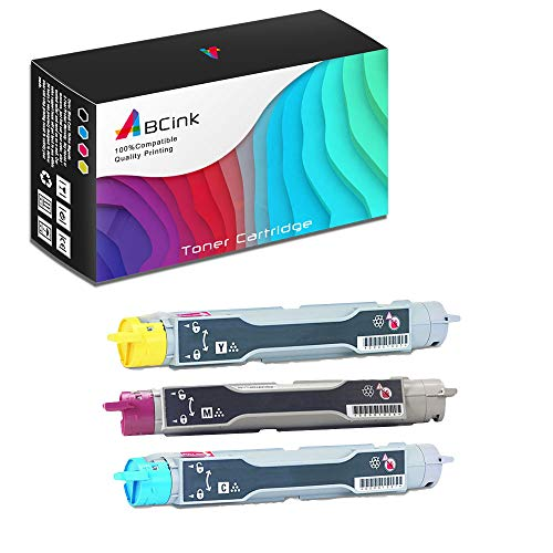 (ABCink Compatible Toner Cartridge Replacements for Xerox 106R00672 106R00673 106R00674,for use in Xerox Phaser 6250 6250B 6250DP 6250DT 6250DX 6250N,3 Pack(Cyan,Yellow,Magenta))