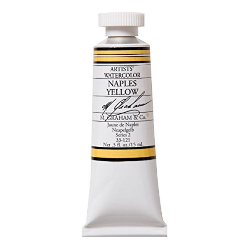 M. Graham 1/2-Ounce Tube Watercolor Paint, Naples Yellow