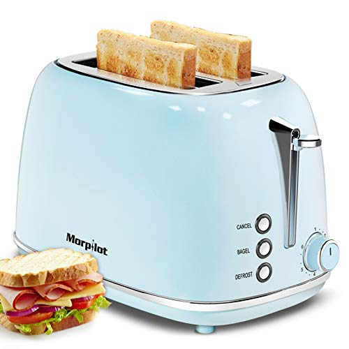 Toaster 2 Slice,Compact Bread Toasters with 6 Browning Settings & Stainless Steel Housing , Bagel Defrost Cancel…