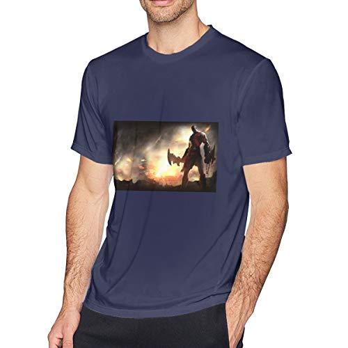 Kinggo Personalized Mens God of War Ascension Short Sleeve T Shirt Navy M (God Of War Ascension Pc Game Registration Code)