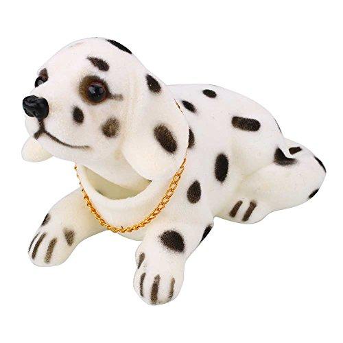 Auntwhale Cute Bobbing Nodding Nodder Moving Bobble Head Dog Car Home Interior Decor Doll Toy
