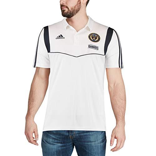 adidas Philadelphia Union Men's Team Logo Coaches Climalite Performance Polo Shirt (X-Large)