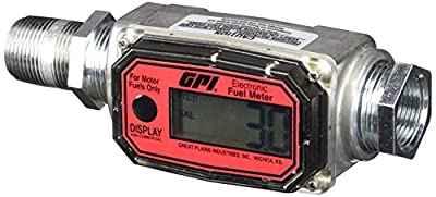 "GPI 113255-1, 1"" Aluminum Fuel Meter 01A31GM, 3 to 30 GPM, NPT Thread, 300 PSI"