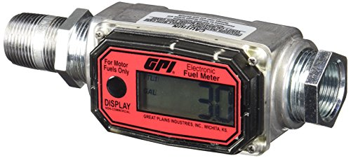 GPI 113255-1, 1'' Aluminum Fuel Meter 01A31GM, 3 to 30 GPM, NPT Thread, 300 PSI by GPI® The Proven Choice®