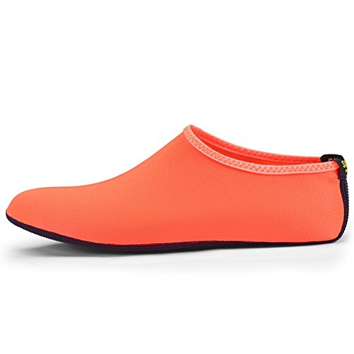 Rutschfeste Herren Strandschuhe Orange Barfus Schuhe Schwimmschuhe Aquaschuhe Neoprenschuhe Wasserschuhe Badeschuhe SABOLAY Schuhe Aqua Damen pW4zzB