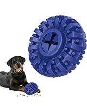 Lewondr Dog Chew Toy for Aggressive Chewers, Durable Natural Rubber Indestructible Dog Toys Treat Dispenser for Power Chewers, Chew Toy for Medium and Large Dog Breed, Fun to Chew, Chase and Fetch,
