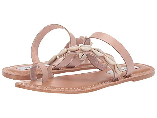Steve Madden Women's Cowrie Seashell Blush Leather Backless Sandals - DeluxeAdultCostumes.com