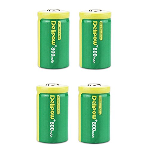 - Delipow CR2 Rechargeable Batteries, 3V 800mAh Lithium Photo Camera Battery, MSDS Certified, Pre-Charged for Golf Rangefinder, Laser Boresighter, Laser Pointer, Funifilm Instax Mini55 (4-Pack)