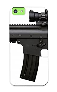 Kellywilliams High-end Case Cover Protector For Iphone 5c(scar Light Weapons Guns Assault Rifle Military )
