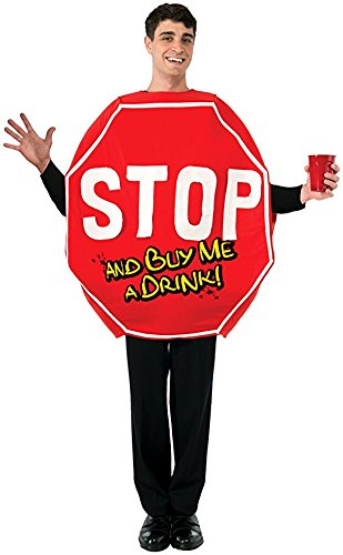 Forum Novelties Men's Stop Sign Costume, Red, One Size -