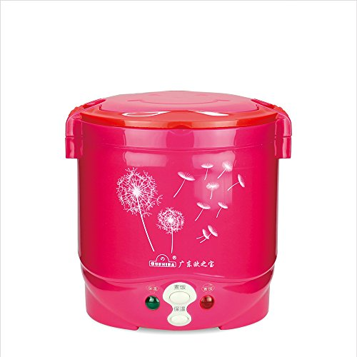 Cooking Heat Non-Stick Capacity 1L Power 170w Mini Rice Cooker C2 110vRed (Rose Red)