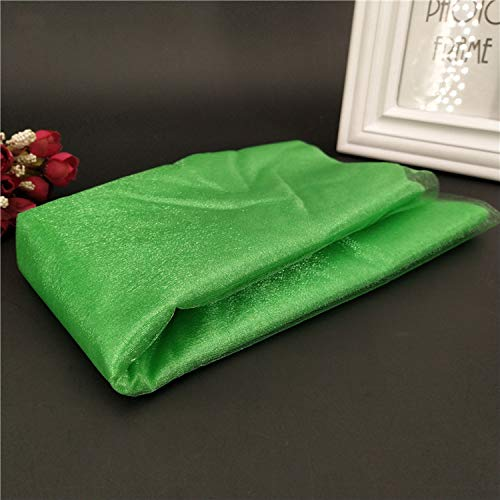 Miao Express 1Pcs 48CMX5M Tulle Roll Wedding Table Decoration Roll Fabric Spool Tutu Birthday Gift Wrap 5Z-SH015,Dark Green]()