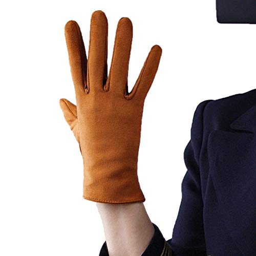 (Suede Long Gloves Faux Leather 8