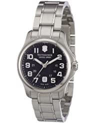 Victorinox Swiss Army Womens SWISSA-241456 Officers XS Black Stainless Steel Watch