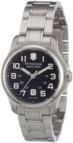 Victorinox Swiss Army Women's SWISSA-241456 Officer's XS Black Stainless Steel Watch