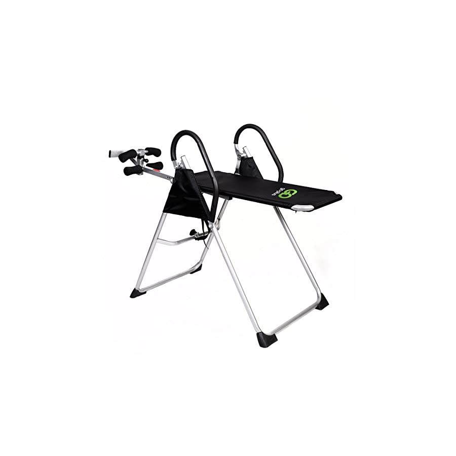 Inversion Table Deluxe Fitness Chiropractic Table Back Pain Relief Exercise