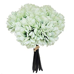 Lily Garden Silk Chrysanthemum Ball 7 Stems Flower Bouquet (Mint) 27