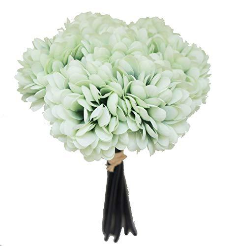 Lily Garden Silk Chrysanthemum Ball 7 Stems Flower Bouquet (Mint)