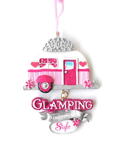 Glamping Teardrop Trailer made our list of the most unique camping Christmas tree ornaments to decorate your RV trailer Christmas tree with whimsical camping themed Christmas ornaments!