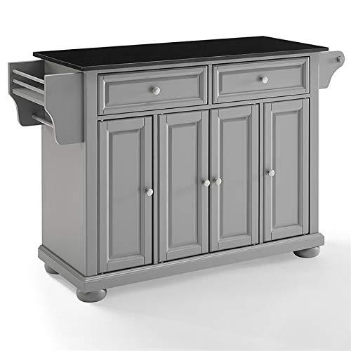 Crosley Furniture Alexandria Granite Top Kitchen Island in Black ()