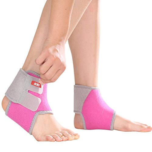Plantar Fasciitis Socks for Kids, with Ankle Brace Strap for Support & Pain Relief,Pink Girl (Pink, Small)