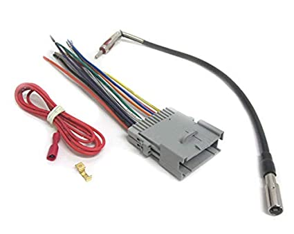 amazon com car stereo wiring combo harness antenna adapter car stereo wires color code car stereo radio wire harness