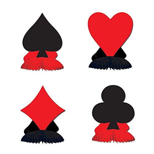Card Suit Mini Centerpieces (Casino Theme Centerpieces)