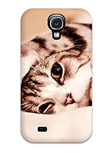 Dwoolll Case Cover For Galaxy S4 - Retailer Packaging Cute Kitty Cat Bed Felines Animal Cat Protective Case