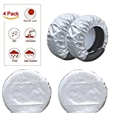 "Dee-Type Aluminum Film RV Wheel Cover Tire Cover Sun Protector 27""-29"" Wheel Diameter (Pack of 4)"