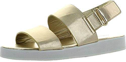 dollhouse Womens Sport White Sole Dual Strap Fashion Sandals Gold Pu T593tkBv