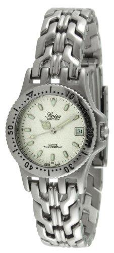 Swiss Edition Women's Luxury Round Silver Link Bracelet Sport Bezel Dress Watch SE3601-L