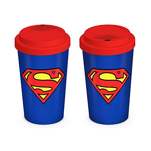 (Superman Official Ceramic Travel Mug (5.5 inches x 3.5 inches) (Red/Blue/Yellow))