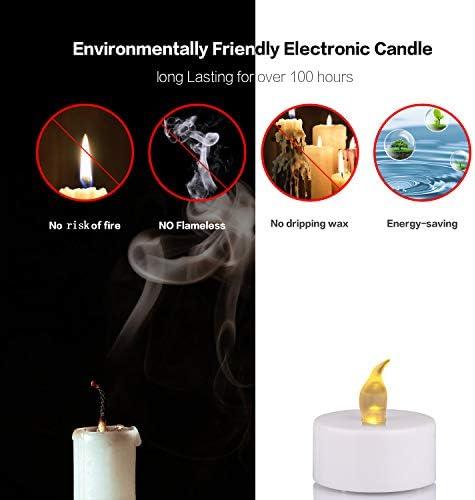 Lepeuxi 1pcs Luz de Vela LED sin Llama Bombilla Parpadeante Brillante Luz de t/é con Pilas con Llamas Realistas Vela Falsa para cumplea/ños//Boda//Navidad