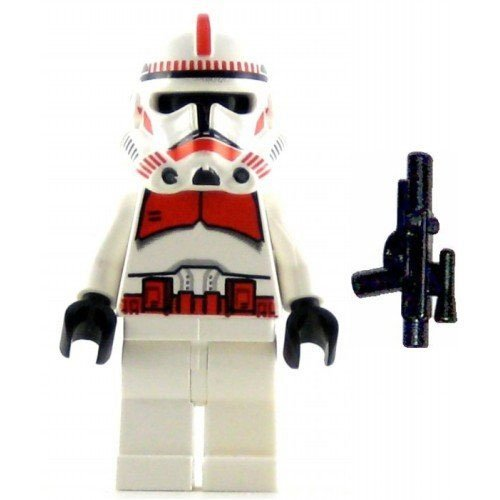 LEGO Star Wars Minifig Clone Trooper Episode III Red Markings Shock Trooper (Clone Trooper Shock)