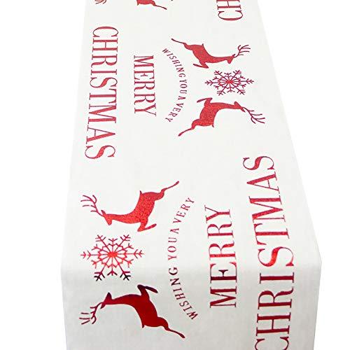 Mantel de Lino de algodón con diseño de Ciervo navideño, Ideal para decoración de Mesa, 5#, 1