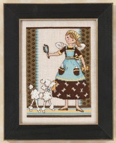 Girl Debbie Mumm (Angel Girls - Pampered Pooch - Mill Hill Counted Cross Stitch Kit)