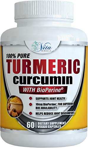 #1 Turmeric Curcumin Supplement 1300mg - (Extra Strength) Capsules with Bioperine Black Pepper Extract and 95% Curcuminoids Anti Inflammatory Joint Support Supplements Non-GMO Gluten Free (1 Pack)