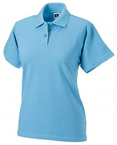 Jerzees Ladies Pique Polo Shirt S Sky Blue