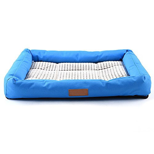 Zaote Dog Cat Pet Cooler Cooling Cool Gel Mat Bed Pad 56 x 50 x 8cm Blue