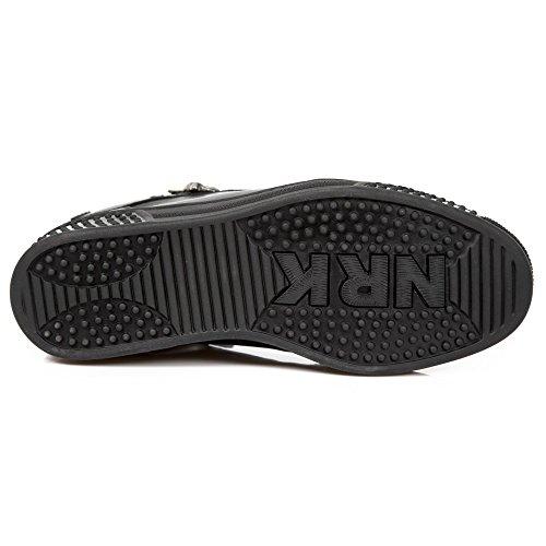 New Rock M.PS029-S8 Pisa Men's Black Leather Boots Red 5bqjzD3D