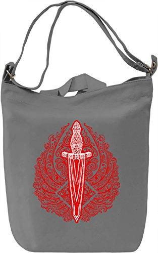 Sword Borsa Giornaliera Canvas Canvas Day Bag| 100% Premium Cotton Canvas| DTG Printing|